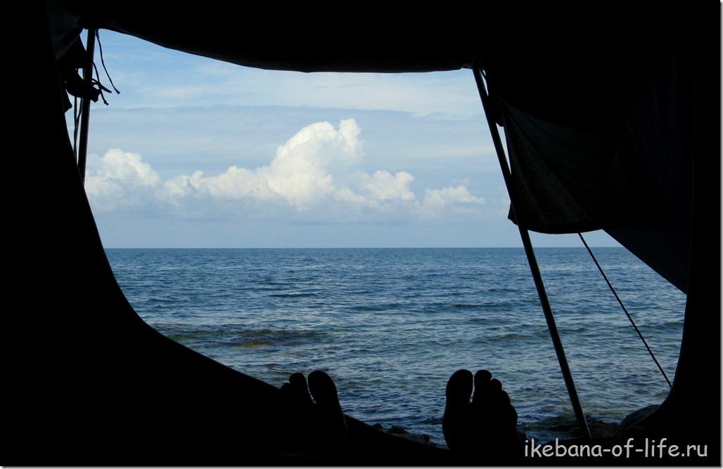 Чёрное море,палатка, туризм