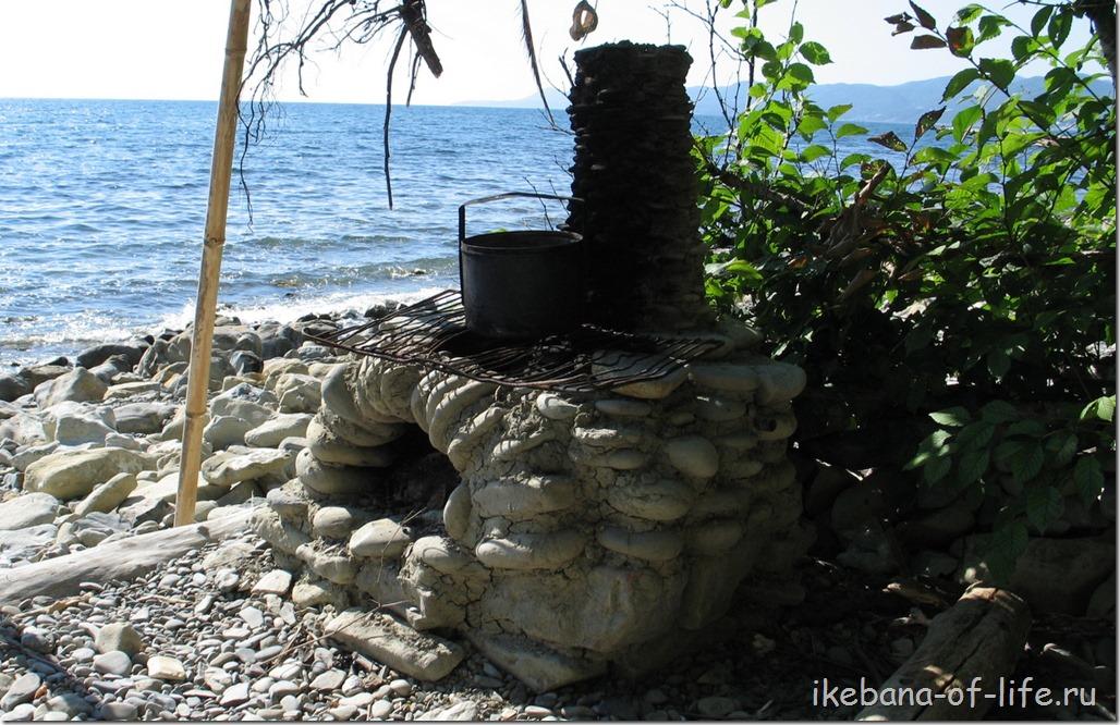 печка из камней и глины