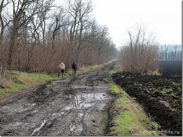На велосипеде по грязи