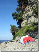 Палатка, пляж Паук