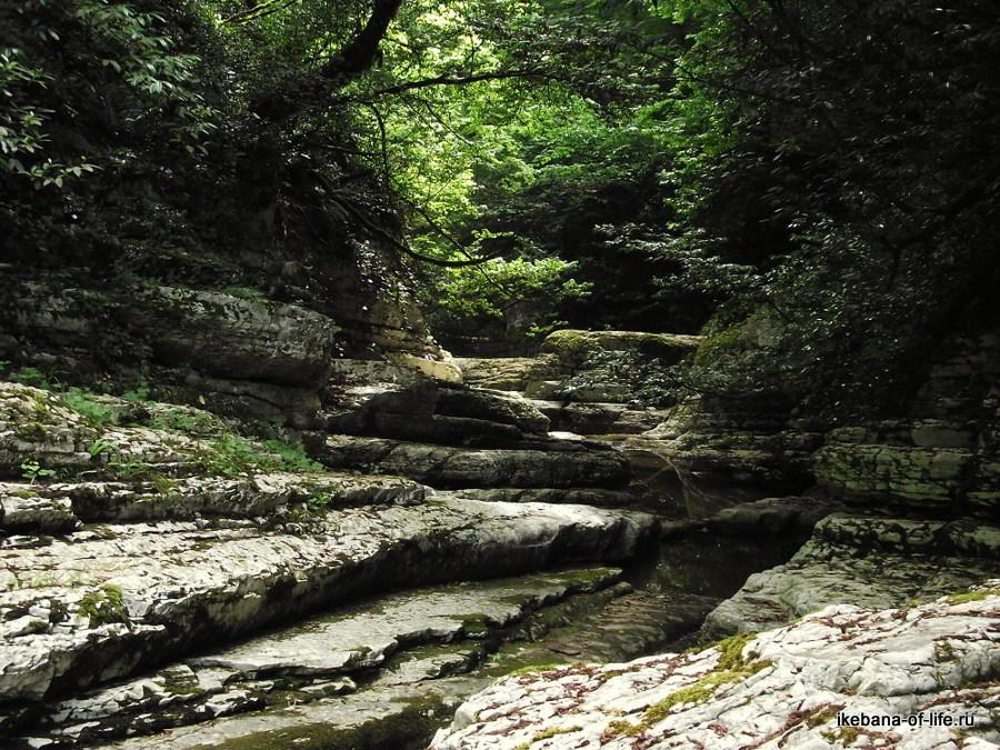 каньён в Агурском ущелье