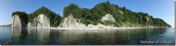 панорама бухты скалы Киселёва, Туапсе